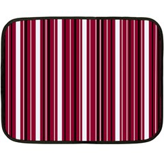 Red lines Fleece Blanket (Mini)