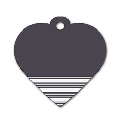 Gray Dog Tag Heart (Two Sides)