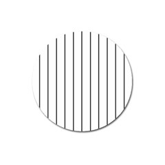 White and black lines Magnet 3  (Round)