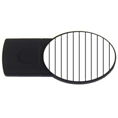White and black lines USB Flash Drive Oval (2 GB)