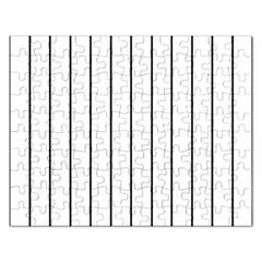 White and black lines Rectangular Jigsaw Puzzl
