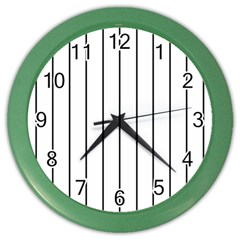 White and black lines Color Wall Clocks