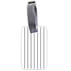 White and black lines Luggage Tags (One Side)