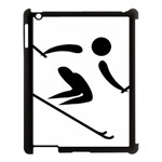 Archery Skiing Pictogram Apple iPad 3/4 Case (Black) Front