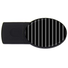 Black and white lines USB Flash Drive Oval (2 GB)