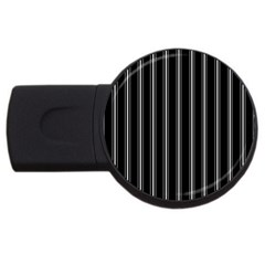 Black and white lines USB Flash Drive Round (4 GB)