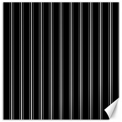 Black and white lines Canvas 16  x 16
