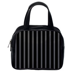 Black and white lines Classic Handbags (One Side)