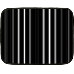 Black and white lines Double Sided Fleece Blanket (Mini)