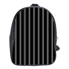 Black and white lines School Bags(Large)