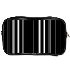 Black and white lines Toiletries Bags
