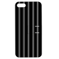 Black And White Lines Apple Iphone 5 Hardshell Case With Stand