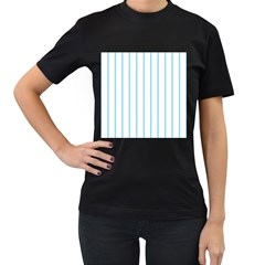 Blue lines Women s T-Shirt (Black) (Two Sided)