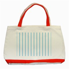 Blue Lines Classic Tote Bag (red)