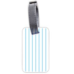 Blue lines Luggage Tags (One Side)