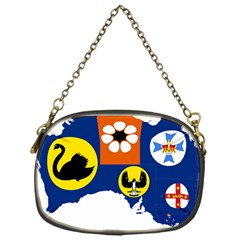 Flag Map Of States And Territories Of Australia Chain Purses (one Side)