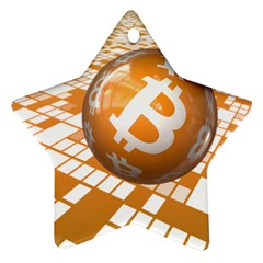 Network Bitcoin Currency Connection Ornament (star)