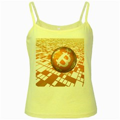 Network Bitcoin Currency Connection Yellow Spaghetti Tank