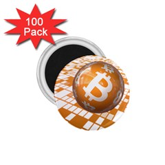 Network Bitcoin Currency Connection 1 75  Magnets (100 Pack)