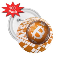 Network Bitcoin Currency Connection 2.25  Buttons (100 pack)