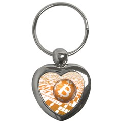 Network Bitcoin Currency Connection Key Chains (Heart)