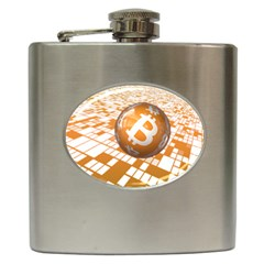 Network Bitcoin Currency Connection Hip Flask (6 Oz)
