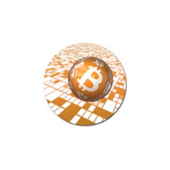 Network Bitcoin Currency Connection Golf Ball Marker