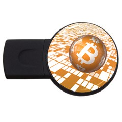 Network Bitcoin Currency Connection Usb Flash Drive Round (2 Gb)