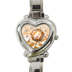 Network Bitcoin Currency Connection Heart Italian Charm Watch