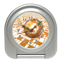 Network Bitcoin Currency Connection Travel Alarm Clocks