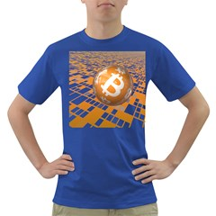 Network Bitcoin Currency Connection Dark T Shirt