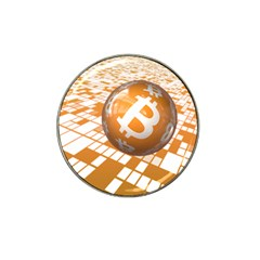 Network Bitcoin Currency Connection Hat Clip Ball Marker (4 Pack)