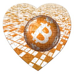 Network Bitcoin Currency Connection Jigsaw Puzzle (heart)