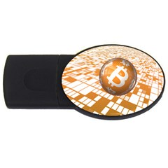 Network Bitcoin Currency Connection Usb Flash Drive Oval (4 Gb)
