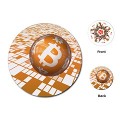 Network Bitcoin Currency Connection Playing Cards (round)