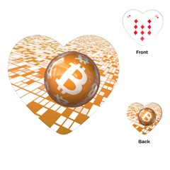 Network Bitcoin Currency Connection Playing Cards (heart)