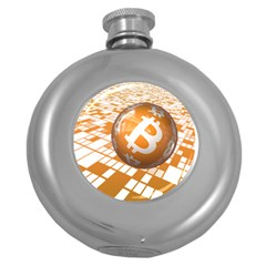 Network Bitcoin Currency Connection Round Hip Flask (5 Oz)