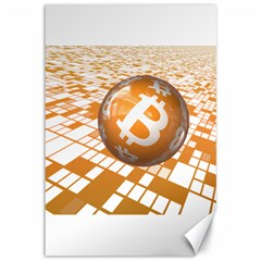 Network Bitcoin Currency Connection Canvas 12  X 18