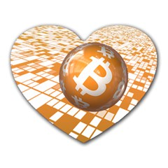Network Bitcoin Currency Connection Heart Mousepads