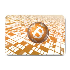 Network Bitcoin Currency Connection Small Doormat