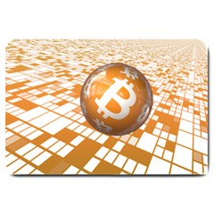 Network Bitcoin Currency Connection Large Doormat