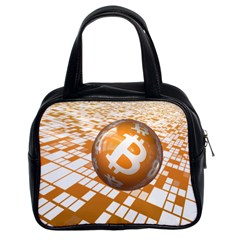 Network Bitcoin Currency Connection Classic Handbags (2 Sides)