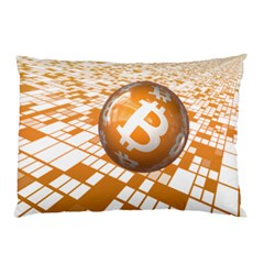 Network Bitcoin Currency Connection Pillow Case