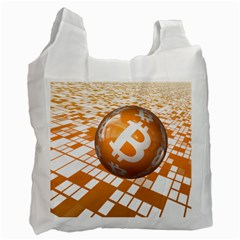 Network Bitcoin Currency Connection Recycle Bag (two Side)