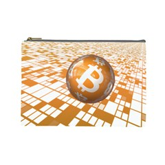Network Bitcoin Currency Connection Cosmetic Bag (large)