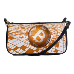 Network Bitcoin Currency Connection Shoulder Clutch Bags