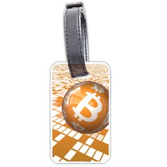 Network Bitcoin Currency Connection Luggage Tags (two Sides)