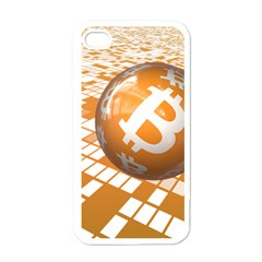 Network Bitcoin Currency Connection Apple Iphone 4 Case (white)