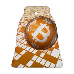 Network Bitcoin Currency Connection Bell Ornament (two Sides)