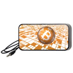 Network Bitcoin Currency Connection Portable Speaker (black)